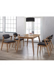 Furniture Direct Berlin 4 Seater Full Solid Rubberwood Dining Set