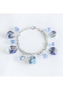 Blizzard Crystal Silver Bracelet (Blue)