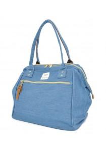 100% Authentic Anello Canvas Cotton Handbag Blue