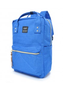 100 % Authentic Anello Square Backpack (Blue)