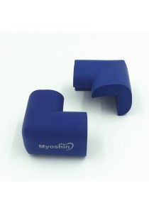 Myoshin Safety Table Corner Edge Protect Cushion (1 set 10 pieces) - 023 (Blue)