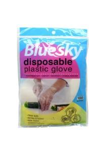 Bluesky Plastic Gloves 100's x 10 packs