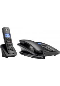 Motorola C4201 Combo Wired/Wireless Phone - Black