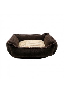 "Catit Style Cat Rectangular Reversible Cuddle Bed - Brown - X-Small - 43.2 cm x 35.6 cm x 16.5 cm (17"" x 14"" x 6.5"")"