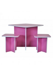 Candie Kids' 3-Piece Table and Chairs Set - Pink