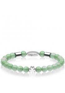 Caron Boutique Adventurine Magnetic Clover Crystal Bracelet