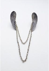 S. Cupid's Wing Collar Brooch