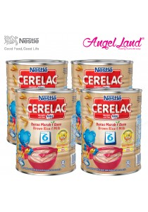[Best Buy for 4] Nestle Cerelac Brown Rice & Milk 6M+ (350G) x4