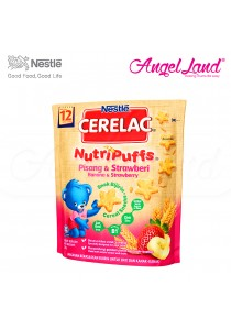 Nestle Cerelac Nutri Puffs Banana & Strawberry 12M+ (50G)