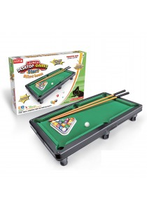 Kid Toy Table top Miniature Pool Table Snooker Playset