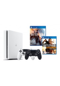 PS4 Slim 500GB Jet Black Bundle (Battlefield 1 + Battlefield Hardline Deluxe)