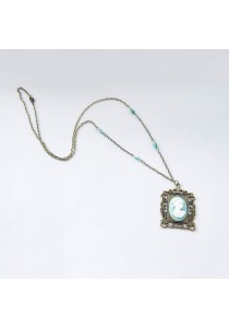 Cameo Vintage Long Necklace #1 Handmade by Shirleen Jeweliciouss