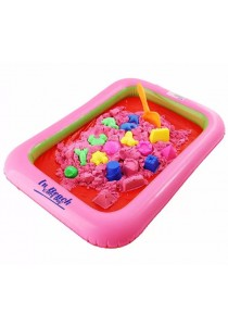 2KG DIY Molds Kinetic Magic Sand With Random Color Molds Parts and Sand Table