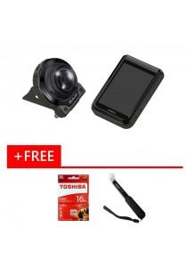 Casio Exlim EX-FR200 11.9MP Digital Camera Black + 16gb + Monopod (Original Malaysia Warranty)