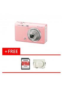 Digital Camera CASIO EXILIM EX-ZR65 (PINK) FREE 16GB Memory Card + Case