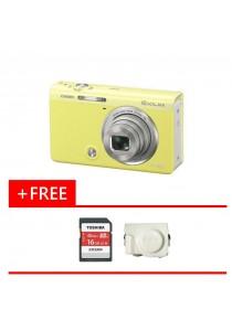 Digital Camera CASIO EXILIM EX-ZR65 (Yellow) FREE 16GB Memory Card + Case