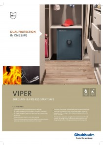 Chubbsafes Burglary & Fire Resistant Safe Box (VIPER EL3) - 34kg