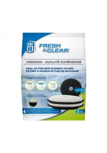 Catit Fresh & Clear Premium Dual-Action Replacement Filters – 2 Packs