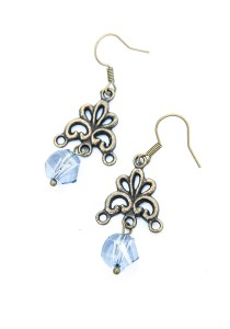 Chandelier Shine Vintage Earring (Blue) Handmade by Shirleen Jeweliciouss