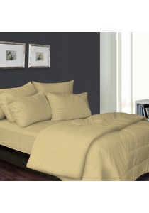 Essina 100% Cotton 680TC Fitted Bedsheet set Colour Palette Brown - King