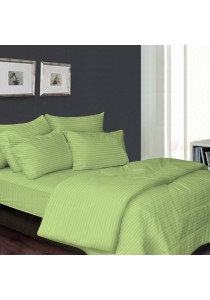 Essina 100% Cotton 680TC Fitted Bedsheet set Colour Palette Green - Queen