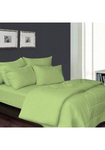 Essina 100% Cotton 680TC Fitted Bedsheet set Colour Palette Green - Super Single