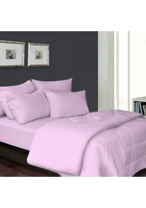 Essina 100% Cotton 680TC Fitted Bedsheet set Colour Palette Pink - Queen