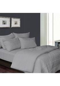 Essina 100% Cotton 680TC Fitted Bedsheet set Colour Palette Grey - Super Single