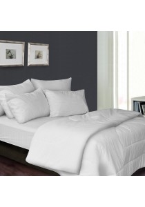 Essina 100% Cotton 680TC Fitted Bedsheet set Colour Palette White - Queen