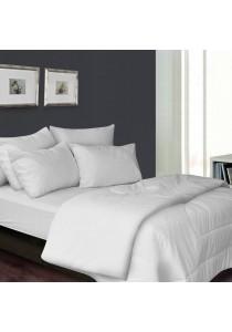 Essina 100% Cotton 680TC Fitted Bedsheet set Colour Palette White - Super Single