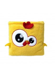 Cute Pillow Blanket for Baby and Kids Yellow Chicken