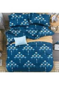 Cozzi 400TC Microfiber Plush Fitted Bedsheet set Cyan - Queen