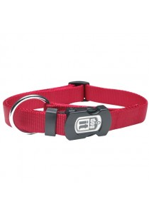 Dogit Single Ply Adjustable Nylon Dog Collar with Snap - Red - Small