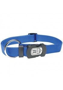 Dogit Single Ply Adjustable Nylon Dog Collar with Snap - Blue - Small