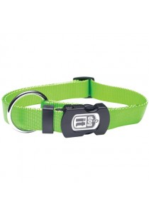 Dogit Single Ply Adjustable Nylon Dog Collar with Snap - Green - Small