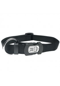 Dogit Single Ply Adjustable Nylon Dog Collar with Snap - Black - Small
