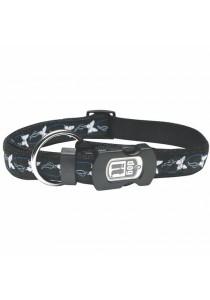 Dogit Style Nylon Ribbon Dog Collar - Butterfly - Blue - XLarge