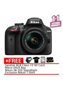 Nikon D3400 kit with AF-P DX 18-55MM F/3.5-5.6G VR (Black) + 8GB + Bag