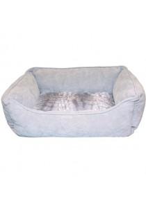 Dogit Style Dog Rectangular Reversible Cuddle Bed - Grey - Xsmall