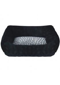 Dogit Style Dog Rectangular Reversible Cuddle Bed - Turtle - Black - Xsmall