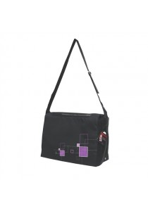 Dogit Style Nylon Messenger Dog Carry Bag - Argyle - Black