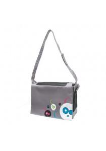 Dogit Style Nylon Messenger Dog Carry Bag - Da Face - Gray