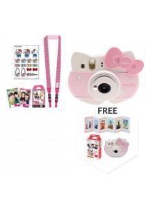 Fujifilm Instax Mini Kitty Package (Instax Mini Kitty + Kitty Strap + Kitty Film + Kitty Sticker + Kitty Crystal Case + Accordion Photo Frame + Mickey Film)