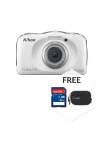 Nikon COOLPIX W100 White + 8GB + Case (Original Malaysia Warranty)