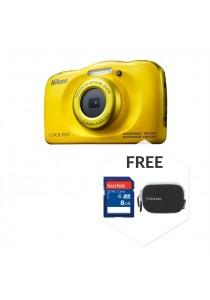Nikon COOLPIX W100 Yellow + 8GB + Case (Original Malaysia Warranty)
