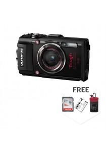 Olympus TG-4 Black (15 Meter Waterproof) + 8GB SD Class 10 + Case + Battery  [Original Malaysia Warranty]