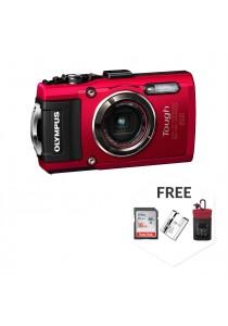 Olympus Tough TG-4 Digital Camera Red (Olympus Malaysia Warranty) + 8GB + Case + Battery