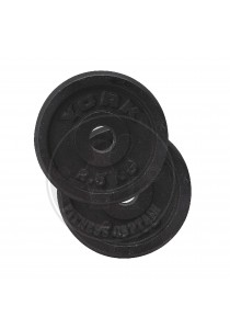 York Fitness Iron Weight Plate 2.5kg (Set of 2)