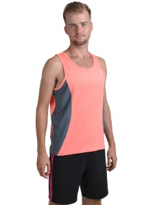 ViQ Men's Sport Singlet (Orange Grey)