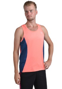 ViQ Men's Sport Singlet (Orange Navy)